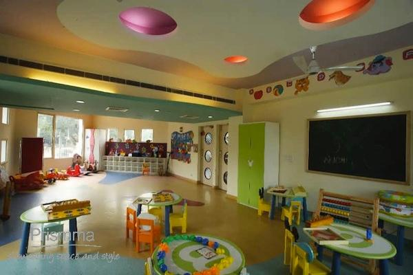 Playschool interior design adarshila vatika by spaces - Become an interior designer online ...